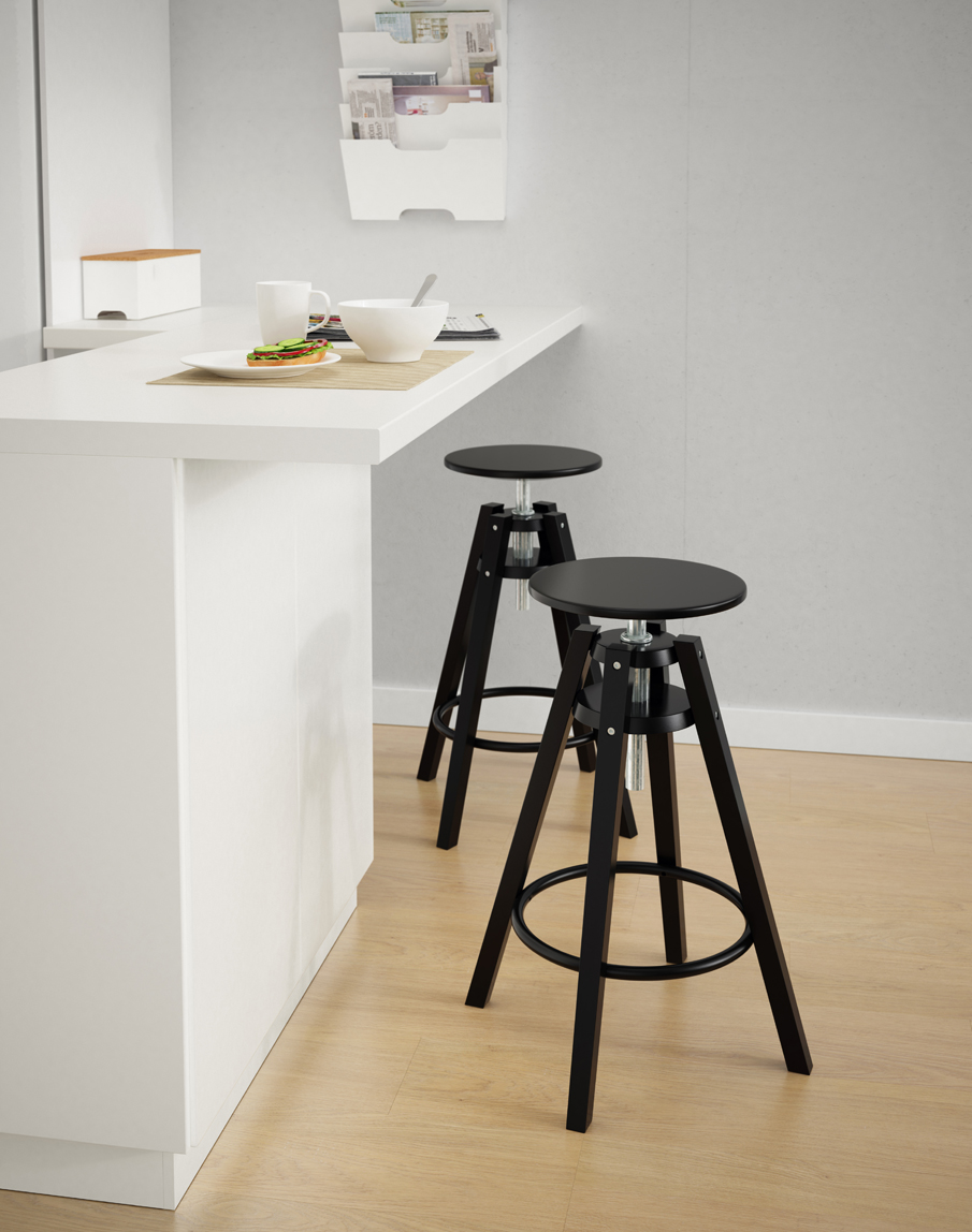 Ikea barstools johan gustavsson for Ikea visualisation 3d